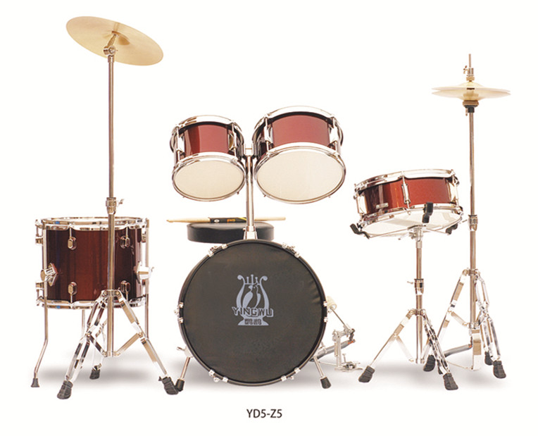 Full Size Complete Kid 5 Piece Drum Set