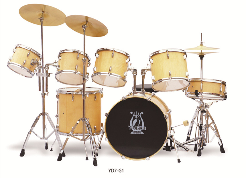 Full Size Adult Complete 7 Piece Drum Set