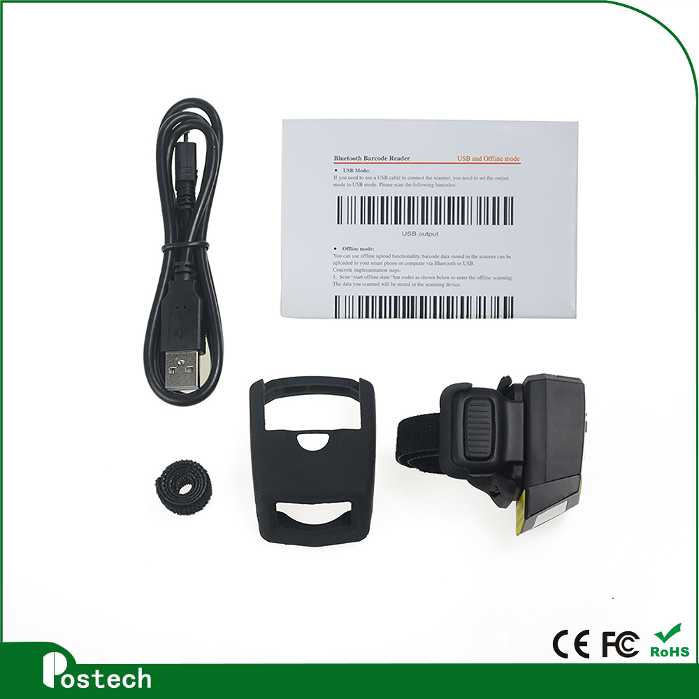 FS01 1d Finger ring barcode reader for distribution and