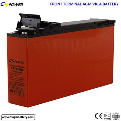 High Energy 165Ah Front Terminal Lead Acid Battery 12FT165 Ues For Telecom