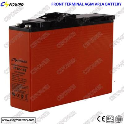 Chinese Supplier Front Terminal Battery 12V 105/110ah for Solar Storage