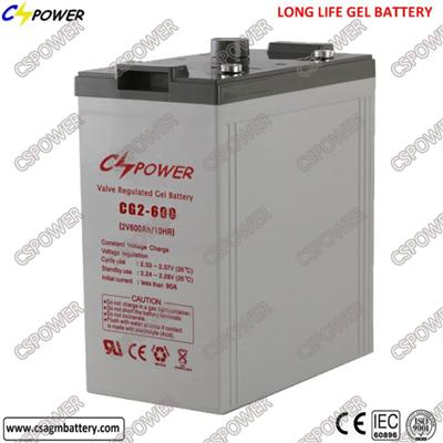 Long Life 2V 600ah Sealed Lead Acid Battery UPS Cl2-600