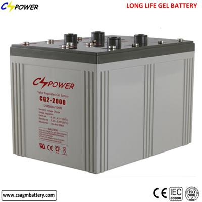 Solar Deep Cycle Batteries 2V 2000ah Battery Rechargeable Cl2-2000