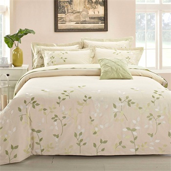 factory price 100%cotton printed 4pcs bed sheet and duvet cover