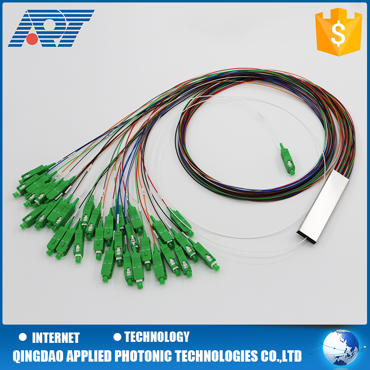 2 /4 way Bare fiber optic splitter with/without connectors