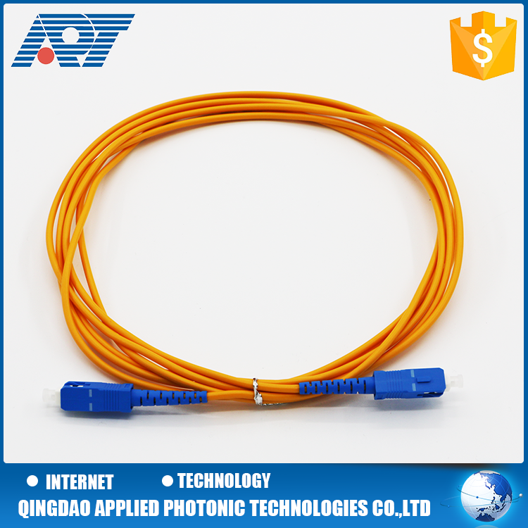 SC type single mode simplex / duplex fiber optic patch cord