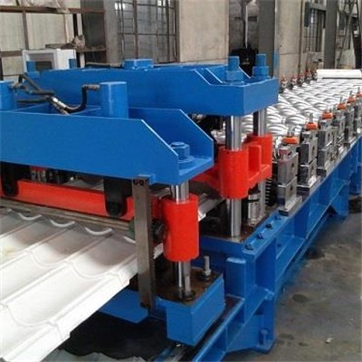 Single Layer Roof Tile Roll Forming Machine