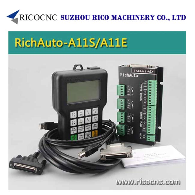 Richauto A11 CNC Handle DSP Controller System for 3 Axis CNC Router Machine