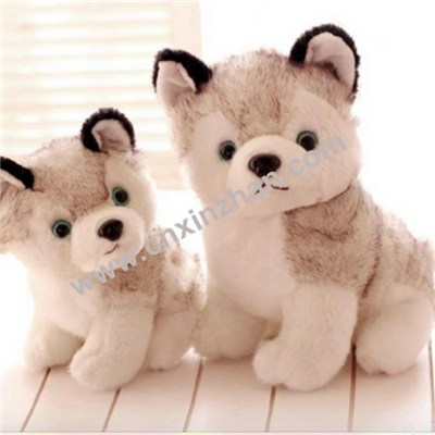 Dog Plush Toys|stuffed Toys Cute Stand Sit and Grovel Brothers Sisters with Bone, Clothes