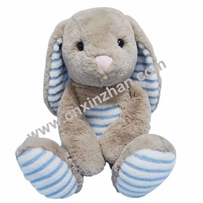 Rabbit Plush Toys|soft Toys Light Blue Grey Milky White Yellow Long Ear Sitting for Sale
