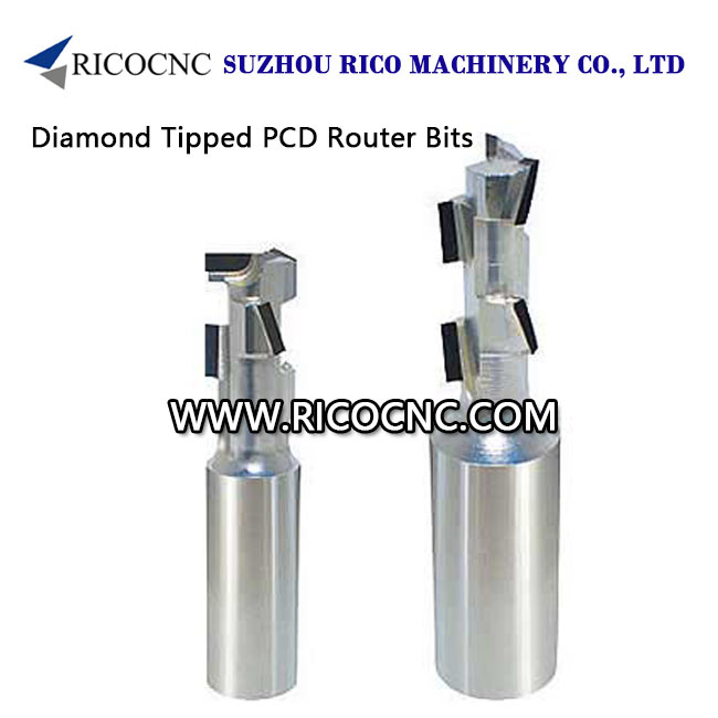 Diamond Tipped PCD CNC Router Bits for Wood CNC Nesting
