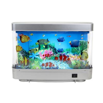 Decorative Night Lamps Fake Tropical Fish Tank With Moving Fish Ocean In Motion