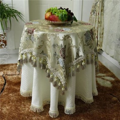 Table Cloth for New Cheap Hot Sale Fancy 100% Polyester Embroidery Wedding