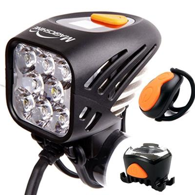 MJ-908 Brightest, Most Powerful Rechargeable Led Mountain Bike Light Set With Indicators