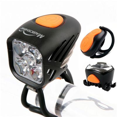 MJ-906 Led Power Beam Mountain Bike Lights Kit With 5000 Lumen Front Light For Night Rider