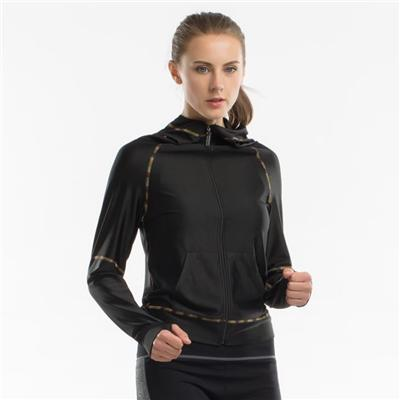 Polyester Sports Workout Jackets Womens Activewear Jackets Cool On Sale
