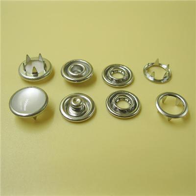 4 Parts Metal Snaps for Baby Clothes Pearl Prong Snap Buttons for Kid's Wear