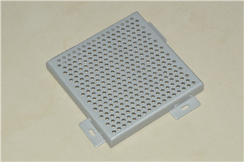 Extra-hard Round Perforated Metallic Silver ASP/Aluminum Solid Panel