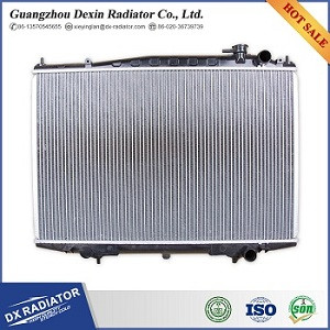brazed radiator for Japanese car with aluminum core and plastic tank