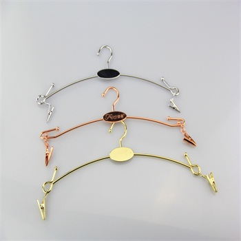 durable metal lingerie hanger with customized logo for underwear