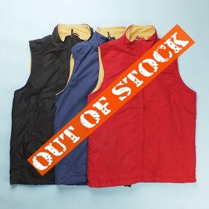 Mens Fleece Waistcoat Vest Tops with Black Red and Navy Colors Available in Stock Wholesale in China