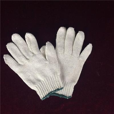 Stock Cotton And Polyester Knit Hand Work Gloves