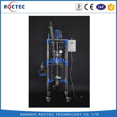 10L Jacketed Glass Reactor Chemical Laboratory Double Glass Reactor