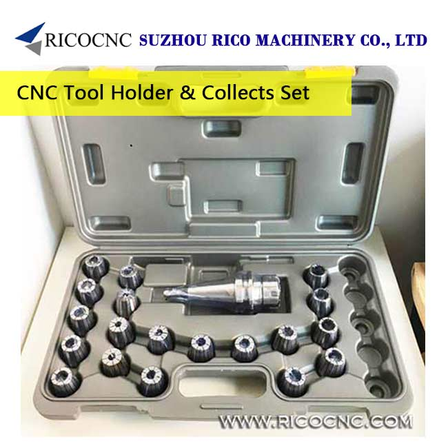 CNC Router Milling Tool Holder Collets Chuck Set with Metric ER Collet Sets