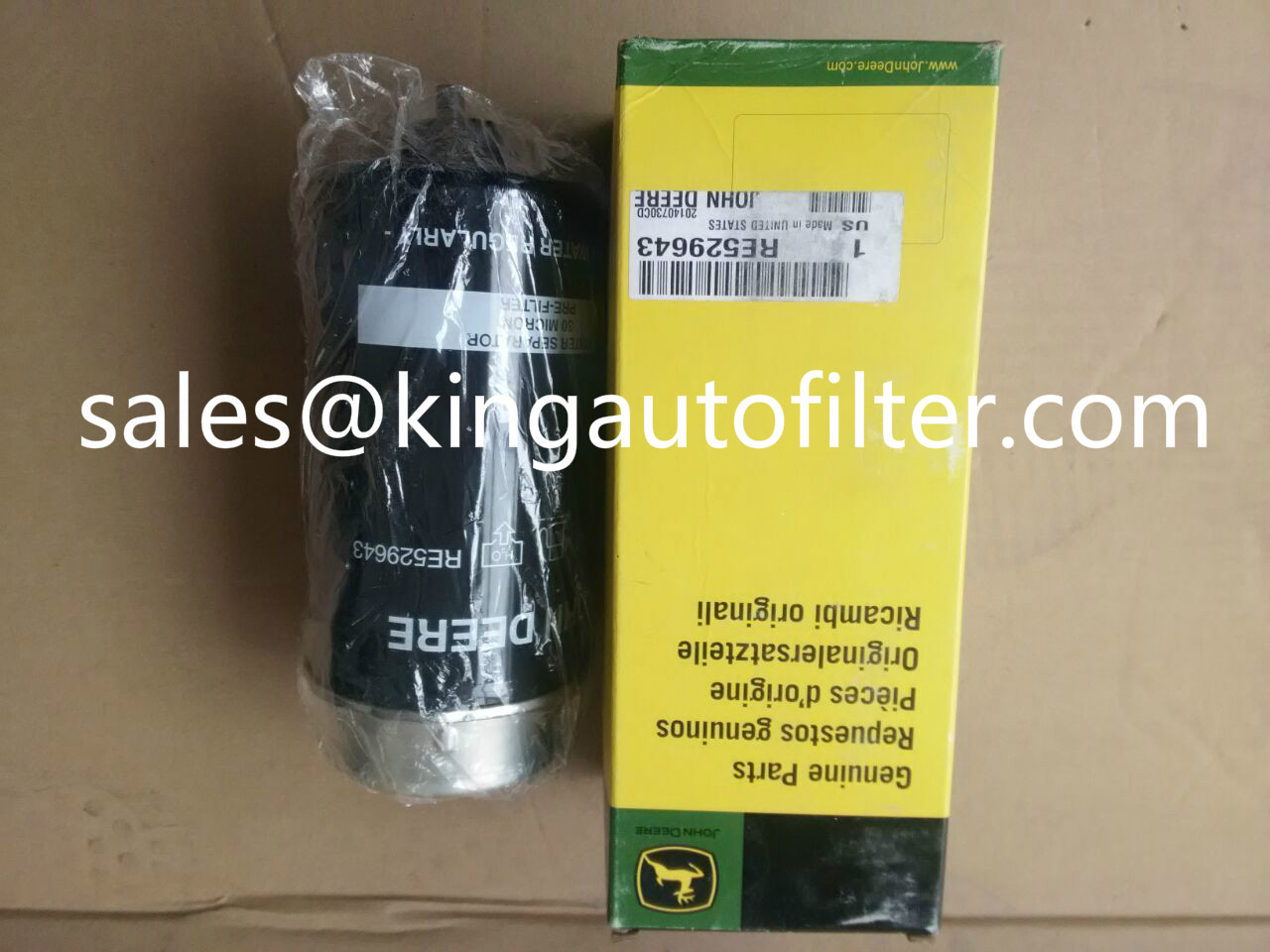 RE529643 RE522878 oil filter use for John Deere oil water separation filter tractor filter