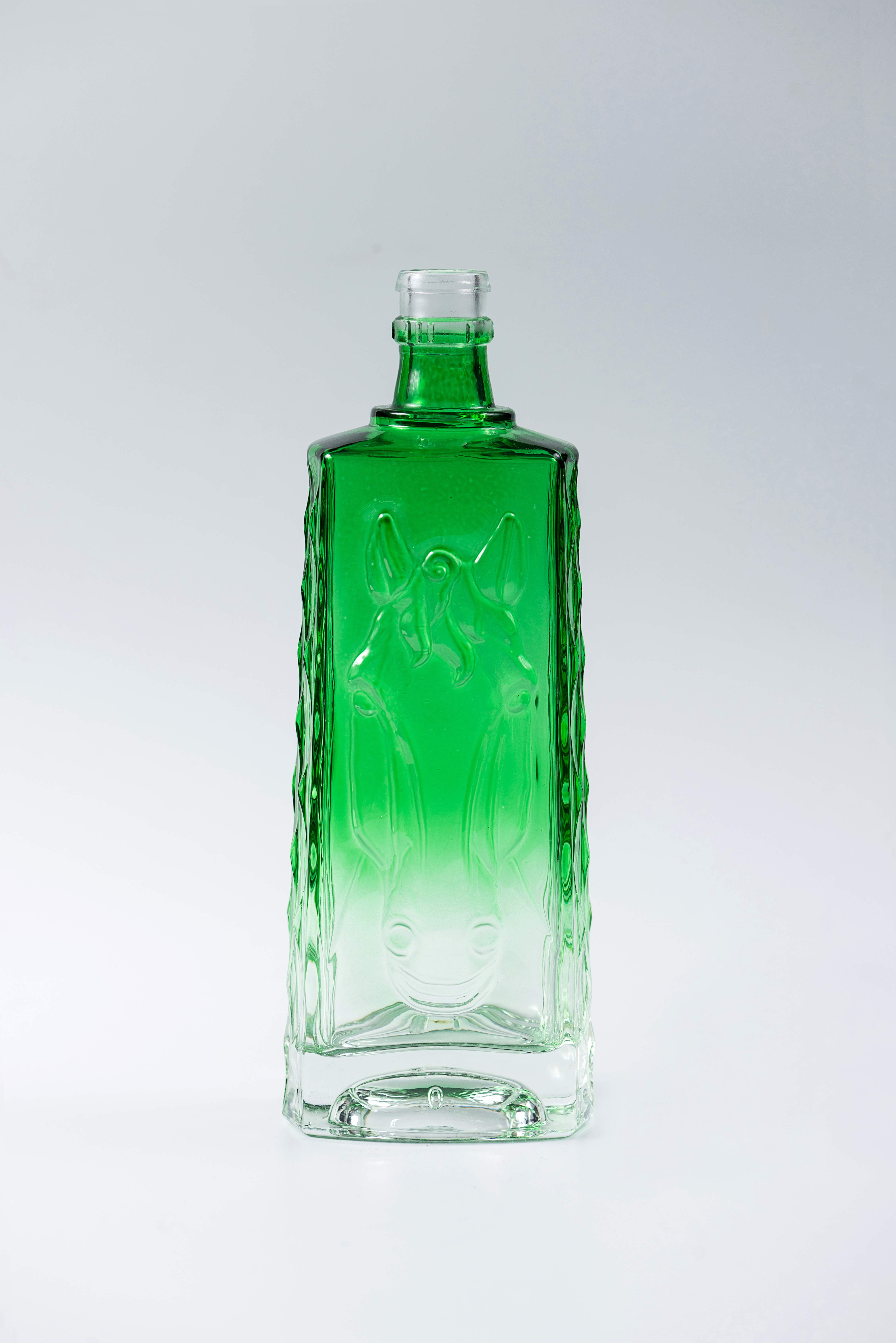 1000ml crystal glass vodka bottle