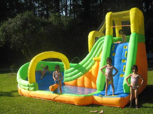 home use inflatable water slide with pool residential inflatable water slides
