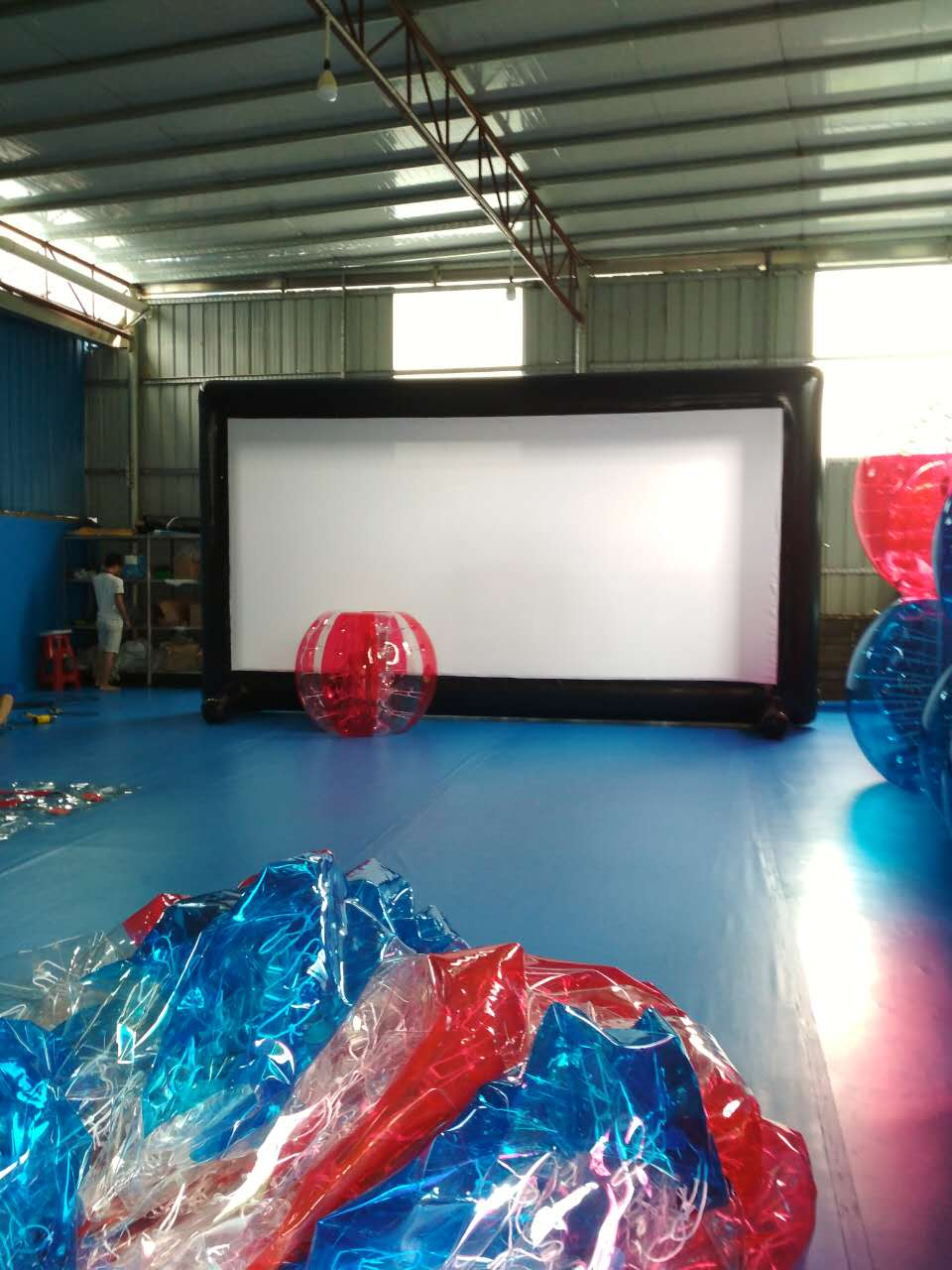 outdoor Inflatable big tv advertising board big outdoor screen for sale