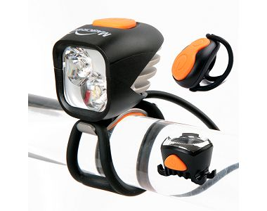 MJ-902 Front And Back Bike Led Headlights And Tail Lights Set For Night Riding