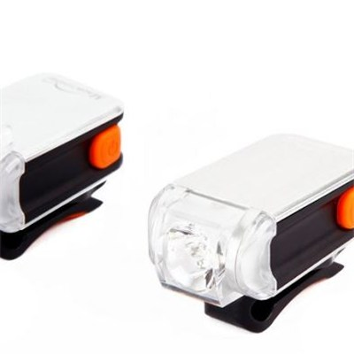 MS-622 Clip On USB Rechargeable Led Bike Safety Light Set For Urban Biking At Night
