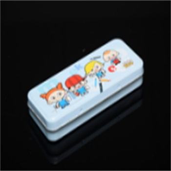 double-deck nice pencil hinged tin box for children