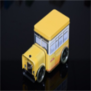 cute fancy car bus special shaped tin can