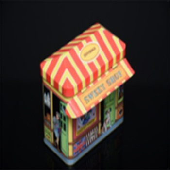 with house roof lid special shape popular candy tin can