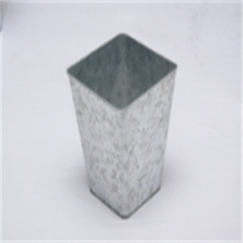 galvanized iron special shape trash can food tin can