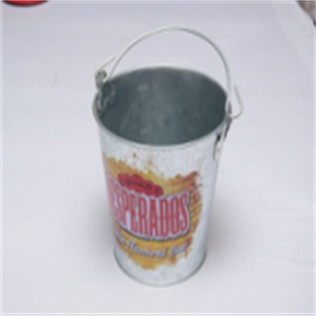 galvanized iron special ice backet tin can with handle