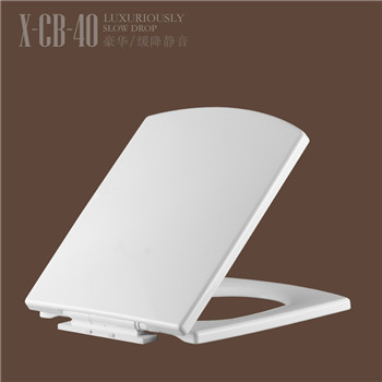 White Square Shape Bathroom Toilet Seat with Slow Close CB40