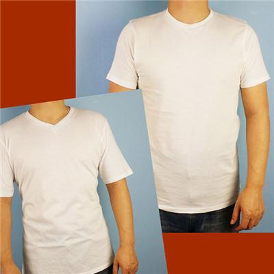Mens White Crew Neck And V Neck Tee T Shirts