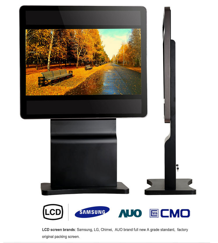 floor stand multiple touch screen kiosk system
