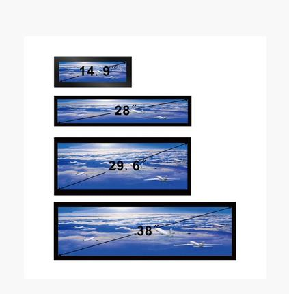 Max Resolution 1920X1080 Stretched Bar LCD Video On Touch Screen Advertising Display