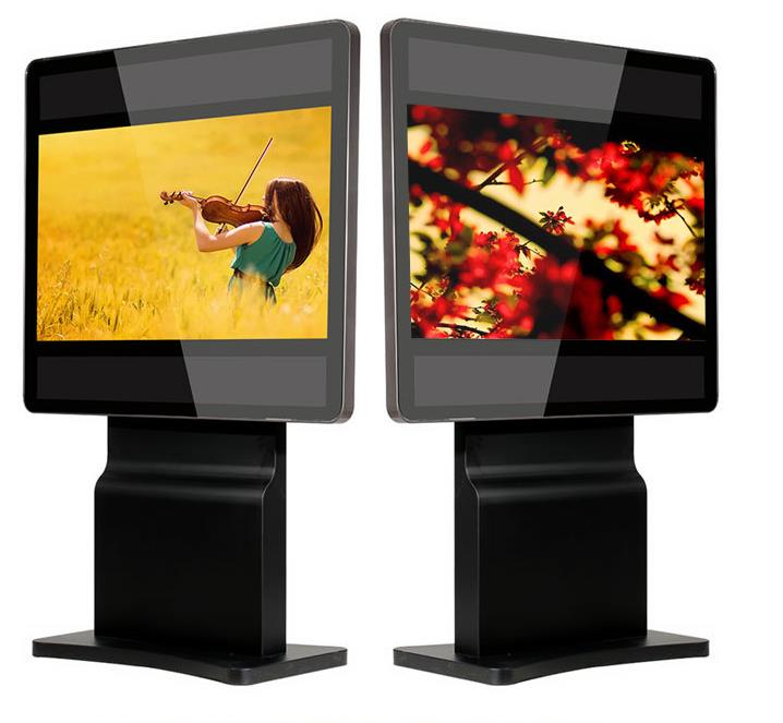 Stylish design freestand multi touch screen kiosk