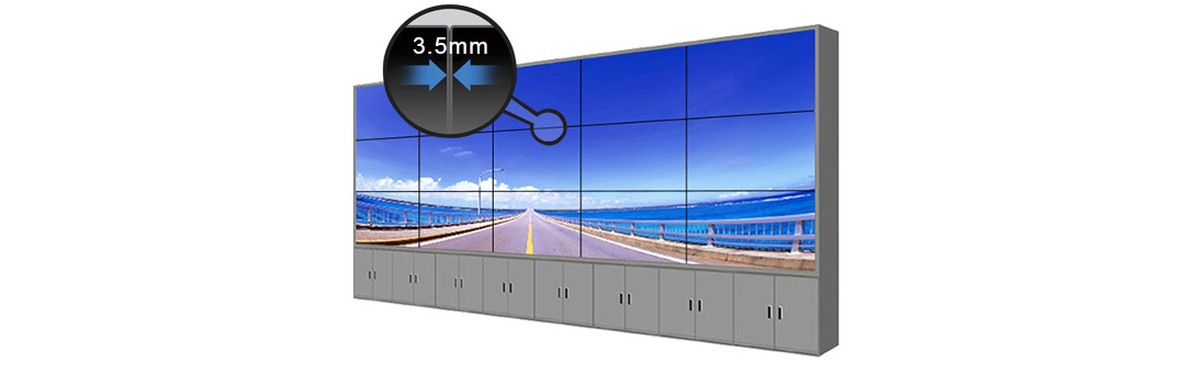 MSK 550DUN-TGB1 3.5mm bezel LCD video wall monitor