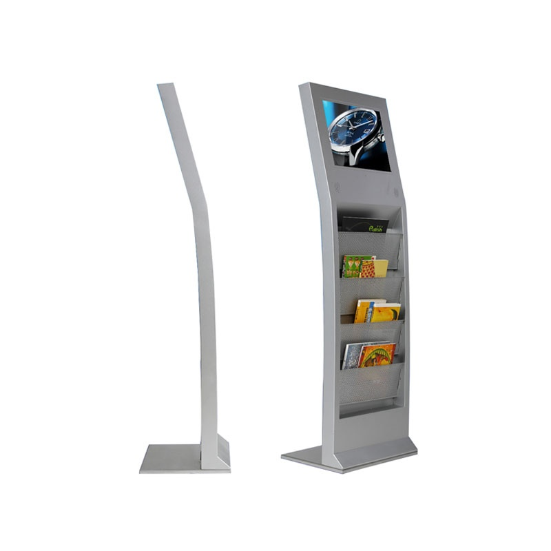 17 inch Freestanding Indoor Tft Type Advertising Player With Brochure Holder