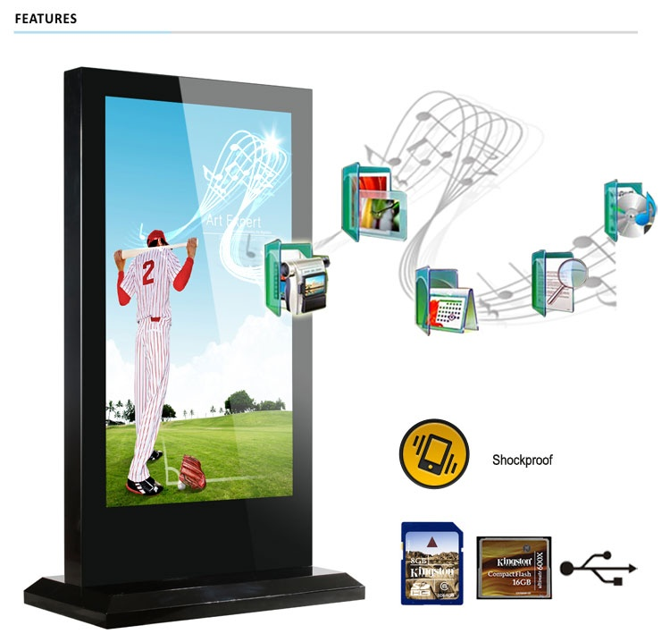 70 inch Indoor Floor Stand advertising player