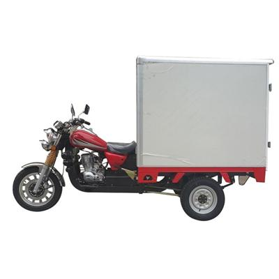 High Quality 150CC Fully Enclosed Gasoline Cargo Tricycle for Sale
