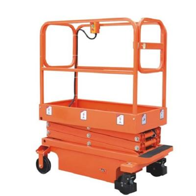 Tractive Manned Electric Power Hydraulic Scissor Lift Working Platform