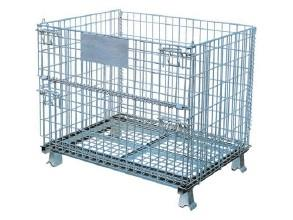 Wire Mesh Container with Different Size and Design Can Be Foldable and Stackable